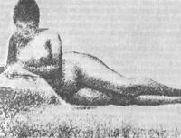 Лежащая обнаженная (Читающая) (Жорж Сёра)