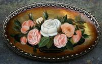 Букет цветов (многослойная живопись на перламутре)