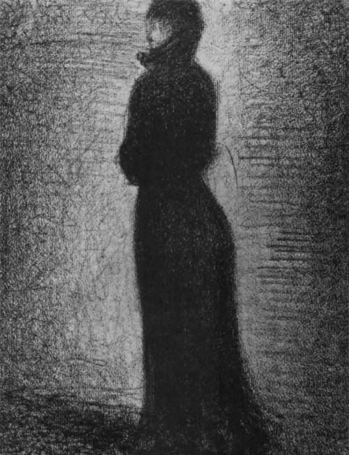 """1883 Сёра Ж.П.""""Дама в черном."""""""