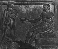 Геркулес и Геба (рельеф)