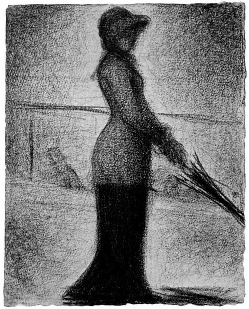 """1882 Сёра Ж.П.""""Прогуливающаяся в одиночестве."""""""