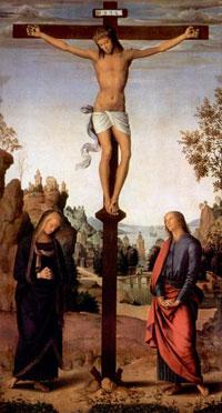 Распятие с Марией (П. Перуджино)