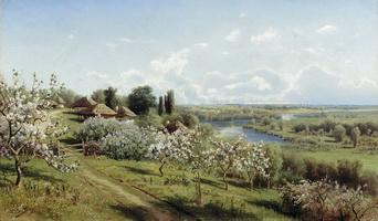 Яблони в цвету. В Малороссии. (Н. Сергеев)