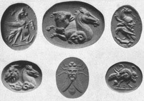Гротеск на античных геммах