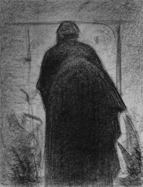 """1882 Сёра Ж.П.""""Согнувшаяся женщина, фигура со спины."""""""