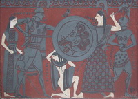Сграффито по мотивам античной вазы (С. Дулатов)