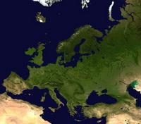 Европа (вид со спутника)