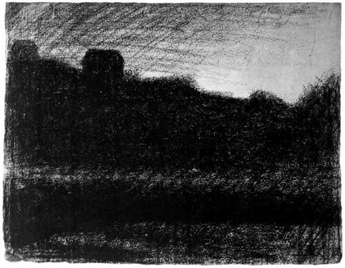 """1882 Сёра Ж.П.""""Дом на пригорке."""""""