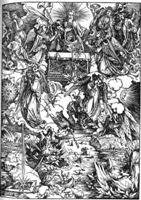 """Фрагмент картины Дюрера """"Апокалипсис"""" - """"Семь ангелов с трубами"""""""