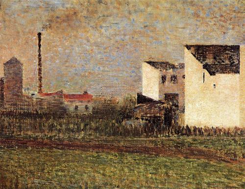 """1883 Сёра Ж.П.""""Пригород (Банлье)"""""""