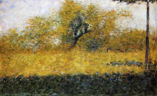 """1883 Сёра Ж.П.""""Опушка леса весной."""""""
