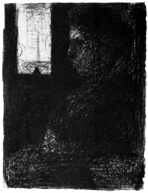 "1883 Сёра Ж.П.""Женщина в вагоне."""