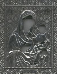 Серебрянный оклад иконы