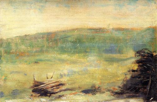 "1879 Сёра Ж.П.""Пейзаж в Саинт Оуен."""
