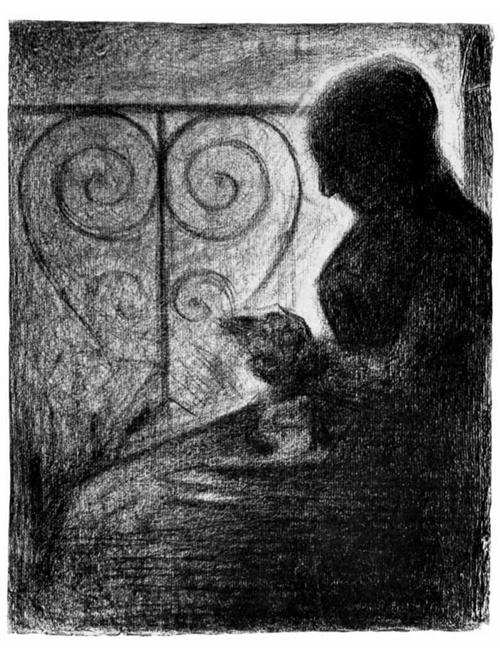 """1883 Сёра Ж.П.""""У балконной решетки."""""""