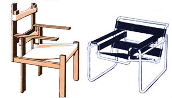 Кресла (Баухауз 1919 - 1923 г.)