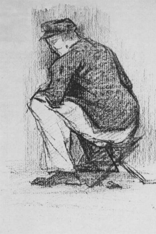 "1881 Сёра Ж.П.""Солдат на складном стуле."""