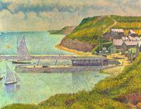 Гавань в Пор-ан-Бессене, прилив (Жорж Сёра, 1888 г.)
