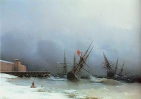 Сигнал бури (И.К. Айвазовский, 1851 г.)