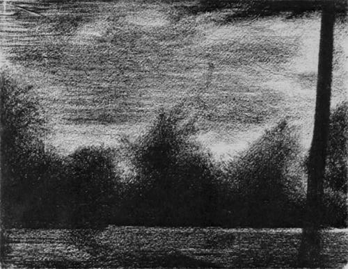"""1883 Сёра Ж.П.""""Опушка леса."""""""