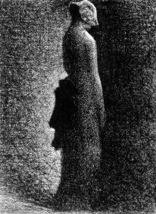 """1882 Сёра Ж.П.""""Черный бант."""""""
