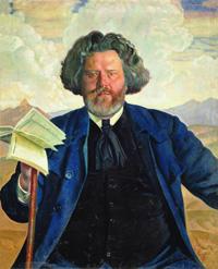 Портрет М.А. Волошина (Борис Кустодиев 1924 г.)