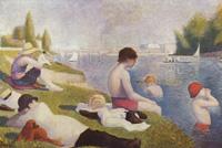 Купание в Аньере (Жорж Сёра 1883-1884 гг.)
