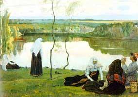 За Волгой (Михаил Васильевич Нестеров)