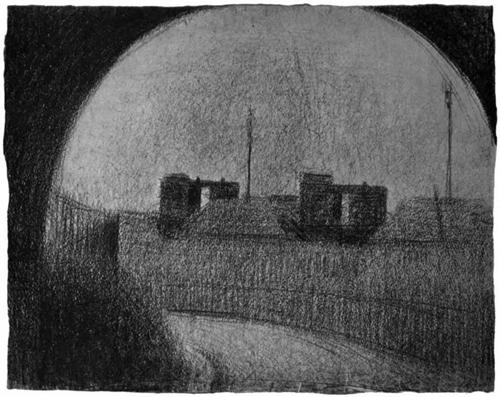 """1881 Сёра Ж.П.""""Привокзальная улица."""""""