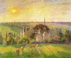 Сельская местность. Церковь и ферма в Эраньи (К. Писсаро)