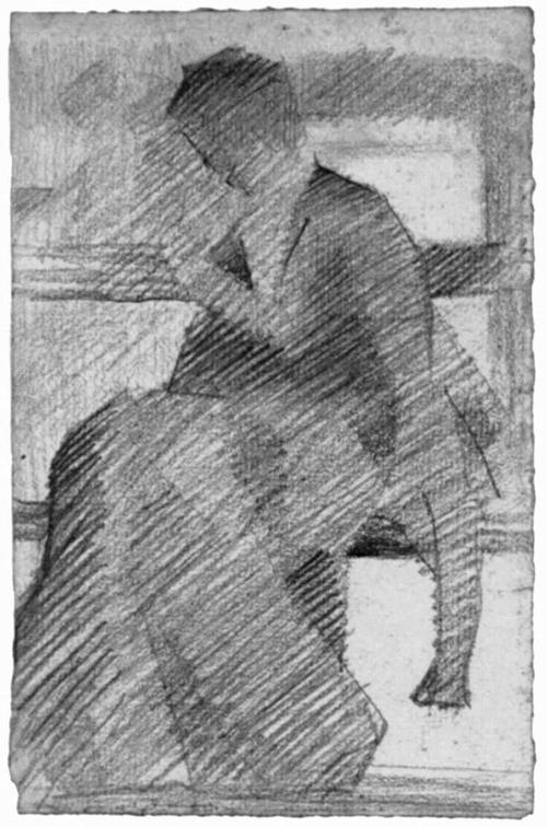 """1881 Сёра Ж.П."""" Женщина на скамье."""""""