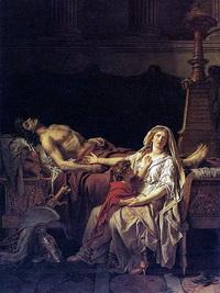 Андромаха у тела Гектора (Ж.Л. Давид, 1783 г.)
