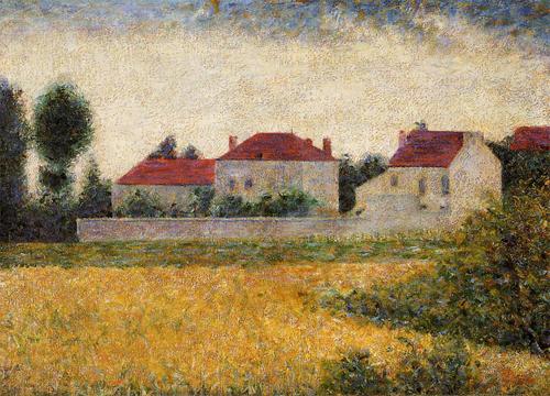 """1882 Сёра Ж.П.""""Виль д`Авре, белые дома."""""""
