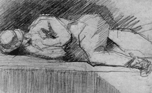"1880 Сёра Ж.П.""Женщина с ребенком."""