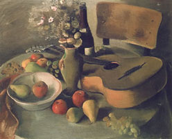 Натюрморт с гитарой (Балканский Ненко)