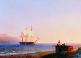 Фрегат под парусом (И.К. Айвазовский, 1838 г.)