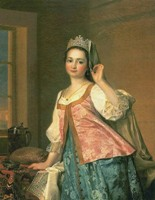 "Д.Г. Левицкий. ""Портрет А.Д. Левицкой"". 1785 год"