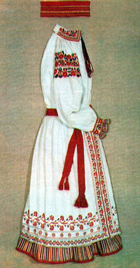 Украинский женский костюм