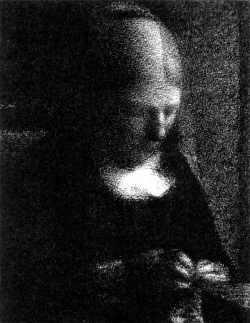 """1883 Сёра Ж.П.""""За шитьем (Портрет матери)"""""""