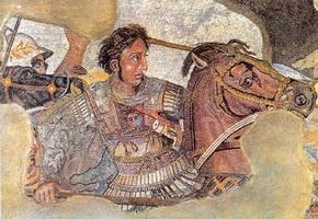 Александр Македонский на фрагменте мозаики