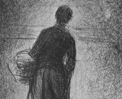 """1881 Сёра Ж.П.""""Женщина с корзиной."""""""