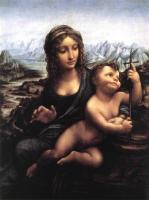 Леонардо да Винчи. Картина Мадонна. 1510 год