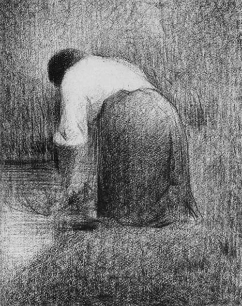 """1881 Сёра Ж.П.""""Прачка."""""""