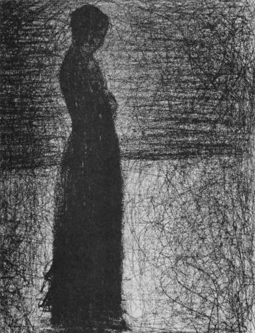 """1882 Сёра Ж.П.""""Стоящая женщина."""""""