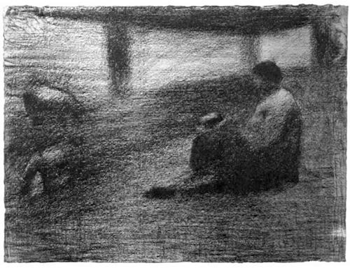 """1883 Сёра Ж.П.""""Белье на веревке."""""""