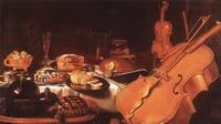 Натюрморт с музыкальными инструментами (П. Клаас, 1623 г.)