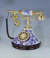 Телефон настольный (гжель)