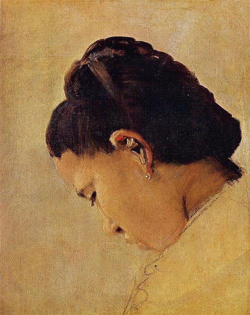 """1879 Сёра Ж.П.""""Голова девушки."""""""