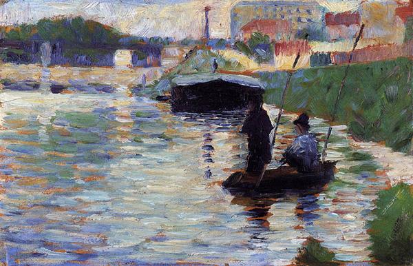 "1883 Сёра Ж.П.""Мост. Вид Сены."""
