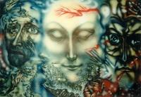 Три религии (В. Гаврилов, ватман, аэрограф)